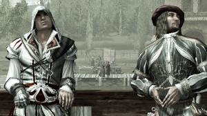 Yeah, that's Da Vinci Ezio is chillin' with